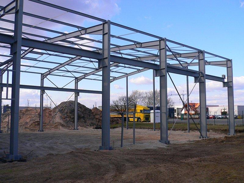 Das RECOS-Gebäude in der Bauphase